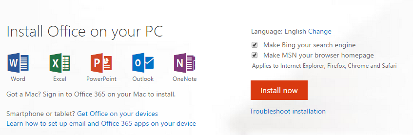 Installing office 365 for personal use it knowledge base mbu knowledge base - Installer office 365 personnel ...