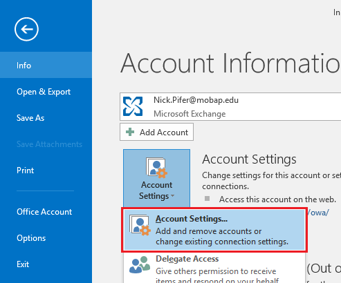 how to add a shared mailbox in outlook